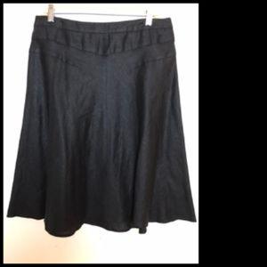 100% Linen Flare A-line Skirt